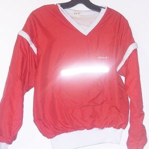 Ellesse VTG Jacket Windbreaker Vest Red Italy 6 M